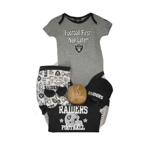 03f7c2b41 Oakland Raiders Baby Gift Basket ***TOUCHDOWN***