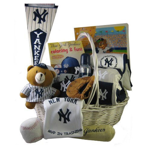 Baby Gift Baskets New York : New york yankees baby gift basket grand slam