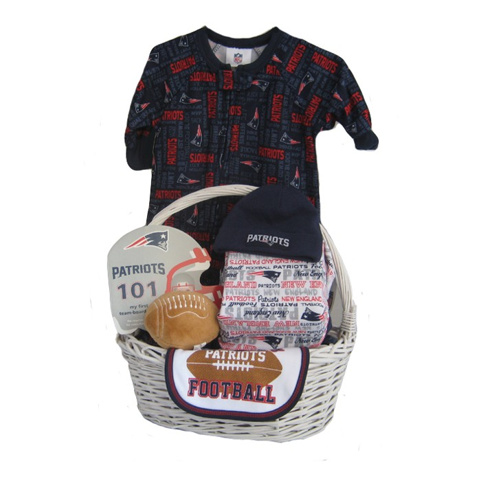 san francisco 4f333 2add8 New England Patriots Baby Gift Basket ***TOUCHDOWN***