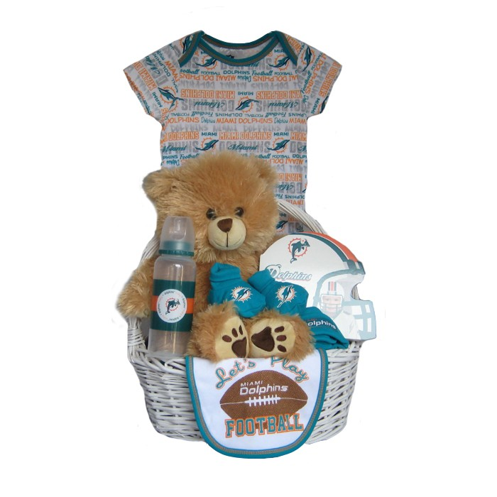 info for 84dbc 755a7 Miami Dolphins Baby Gift Basket ***TOUCHDOWN***