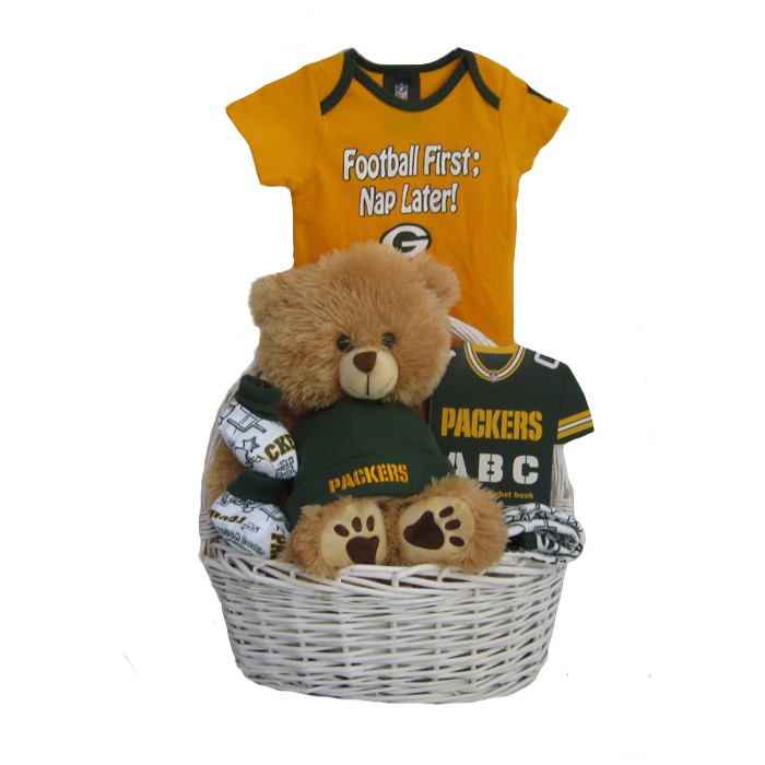 wholesale dealer 0042b 45db4 Green Bay Packers Baby Gift Basket ***TOUCHDOWN***