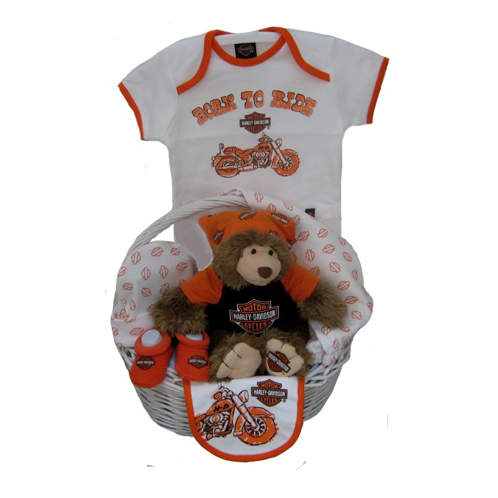 Harley Davidson Baby Clothes Magnificent Harley Davidson Baby Boy Basket BORN TO RIDE