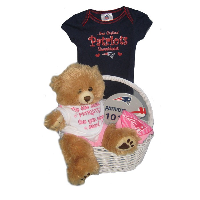 the best attitude ee1fd 69427 New England Patriots Baby Girl Gift Basket ***TOUCHDOWN***