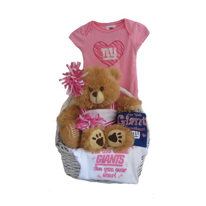 New York Giants Baby Girl Gift Basket ***TOUCHDOWN***