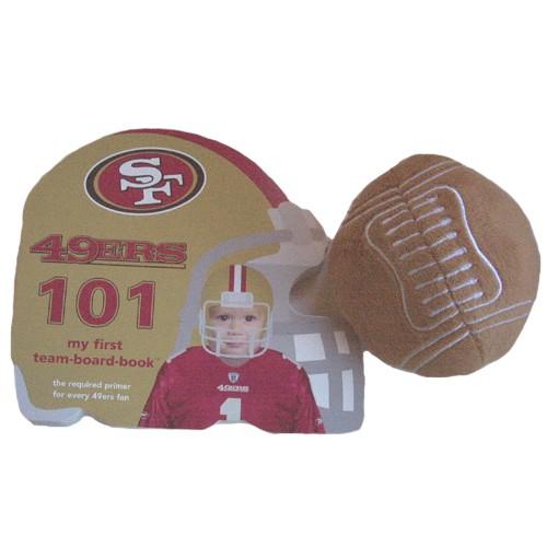 Baby Gift Baskets San Francisco : San francisco ers baby book plush football gift set