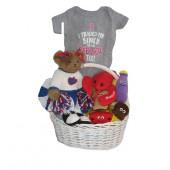 Boston Red Sox Baby Girl Gift Basket ***HOME RUN***