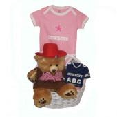 Dallas Cowboys Baby Girl Gift Basket ***TOUCHDOWN***