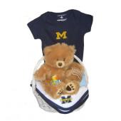 Michigan Wolverines Baby Gift Basket ***TOUCHDOWN***