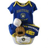 Milwaukee Brewers Baby Gift Basket ***HOME RUN***