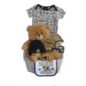 New Orleans Saints Baby Gift Basket  ***TOUCHDOWN***