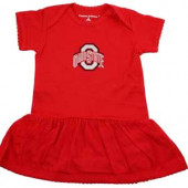 Ohio State Buckeyes Baby Girl Onesie Dress