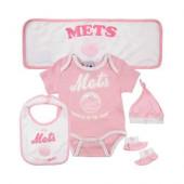 New York Mets Baby Girl Gift Set
