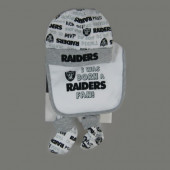 Oakland Raiders Baby Bib, Beanie & Booties