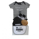 Oakland Raiders Baby Gift Set  ***4th and GOAL***