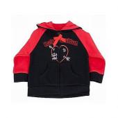 Harley Davidson® Girls Baby LITTLE REBEL Club Fleece Red Hooded Jacket
