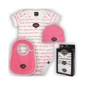 Harley-Davidson Baby Pink 3 Piece Gift Set