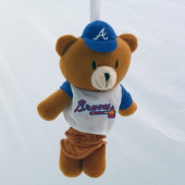 Atlanta Braves Musical Pull Down Toy Bear