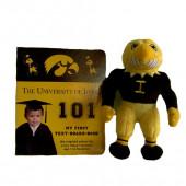 Iowa Hawkeyes Baby Book & Plush Hawk Gift Set