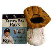 Tampa Bay Rays Baby Book, Ball and Glove Gift Set